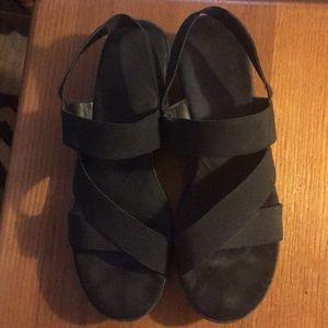 A2 by Aerosoles Black Sandals Ladies Size 10